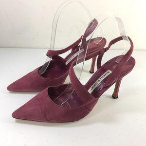 Manolo Blahnik 39 9 heels Pumps Mary Jane pointed